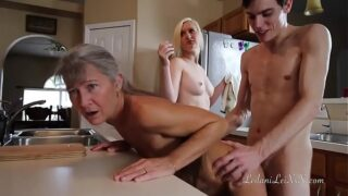 MILF Mom and Grandma timestop freeuse fuck by nasty boy